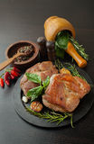 Roasted meat with spices Stock Photography