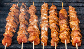 Roasted meat sticks Royalty Free Stock Image