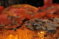 Roasted meat - Turkish doner kebab. Authentic Turkish doner kebab and grill Stock Images