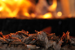 Roasted meat - Turkish doner kebab royalty free stock photography