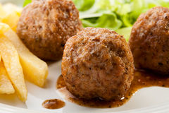 Roasted meatballs Royalty Free Stock Photography