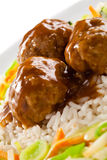 Roasted meatballs Stock Photos