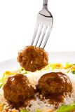 Roasted meatballs Royalty Free Stock Photos