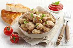 Roasted meatballs Stock Photos