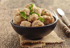 Roasted meatballs Royalty Free Stock Image