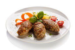 Roasted meatballs Royalty Free Stock Images