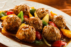 Roasted meatballs Stock Photography