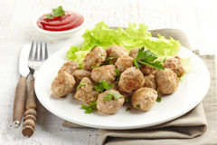 Roasted meatballs Stock Image