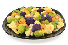 Roasted multicolored Cauliflower Stock Photography