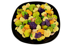 Roasted multicolored Cauliflower Stock Photos