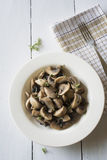 Roasted Mushrooms with thyme Stock Images