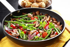 Roasted mushrooms with vegetable Stock Photography