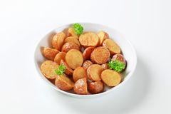 Roasted new potatoes Royalty Free Stock Photography