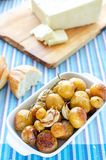 Roasted new potatoes Royalty Free Stock Image