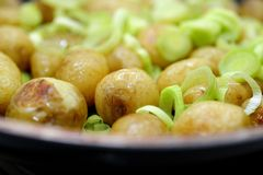 Roasted new potatoes Royalty Free Stock Photos