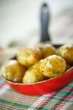 Roasted new potatoes Stock Photo