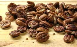Roasted Nuts. Roasted Pecan nuts Royalty Free Stock Photo