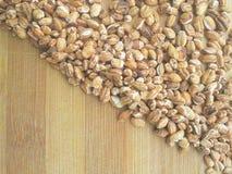 Roasted oat grain corner. Close up of roasted oat grain corner Royalty Free Stock Image