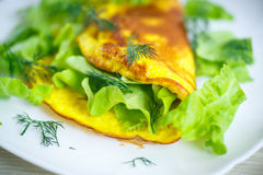 Roasted omelet Royalty Free Stock Images