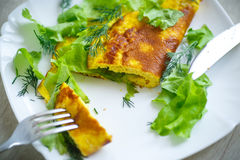 Roasted omelet Stock Photos