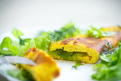 Roasted omelet Stock Photography