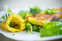 Roasted omelet Stock Photo