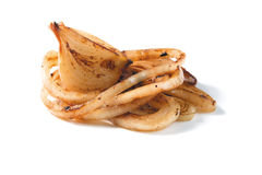 Roasted onion pieces Stock Photos