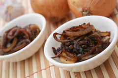 Roasted onions Stock Images