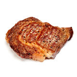Roasted organic shin of beef meat. Isolated on a white background Royalty Free Stock Photography