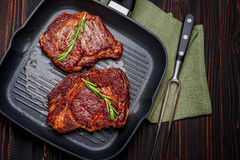 Roasted organic shin of beef meat Royalty Free Stock Image