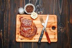 Roasted organic shin of beef meat Stock Photo