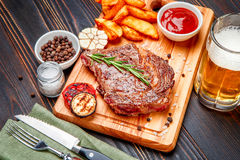 Roasted organic shin of beef meat Stock Images