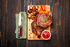 Roasted organic shin of beef meat Royalty Free Stock Photo
