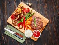 Roasted organic shin of beef meat Stock Image
