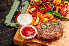 Roasted organic shin of beef meat Royalty Free Stock Photography