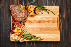 Roasted organic shin of beef meat Stock Photography