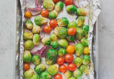 Roasted oven baked veggie goodness Royalty Free Stock Photos