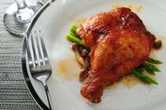 Roasted paprika chicken wing Stock Images