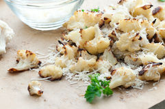 Roasted Parmesan Cauliflower Royalty Free Stock Photos