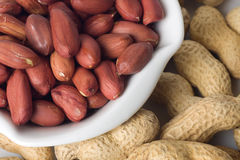 Roasted peanuts Stock Images