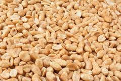 Roasted Peanuts. Background of peeled roasted peanuts stock photo