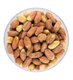 Roasted peanuts in bowl Royalty Free Stock Image