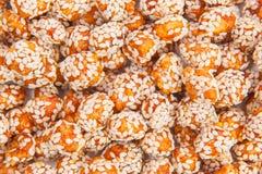 Roasted peanuts coated Stock Images