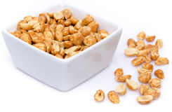 Roasted peanuts in a cup Royalty Free Stock Photography