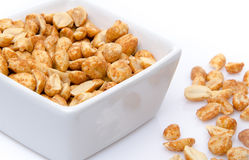 Roasted peanuts in a cup Royalty Free Stock Photo
