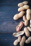 Roasted peanuts frame Stock Image