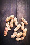 Roasted peanuts frame Royalty Free Stock Photos