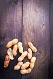 Roasted peanuts frame Stock Images