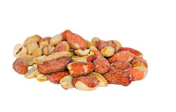 Roasted peanuts isolated Stock Photo