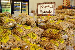 Roasted Peanuts for Sale. Georgia offering local renowned roasted peanuts for sale in bags at travel stop Stock Image